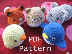 free fox sewing patterns | ... Crochet Critter Pattern - Squirrel, Fox, Penguin, Chick, Fox and more Adorable!!!