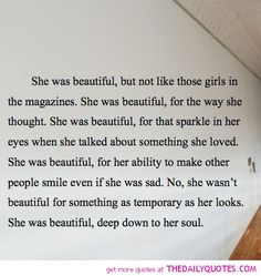 She Was Beautiful | The Daily Quotes