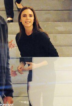 Victoria Beckham smiling!