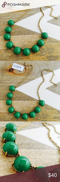 "J CREW Bubble Stone Necklace * Epoxy stone. * Light gold ox plating. * Length: 17"" with a 3"" extender chain for adjustable length. J. Crew Jewelry Necklaces"