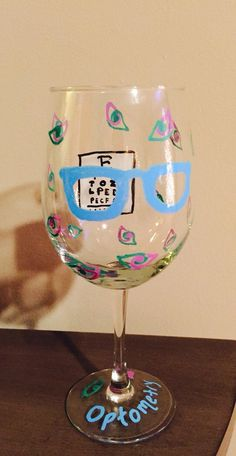 Optometry Wine Glass by CreatiVino on Etsy