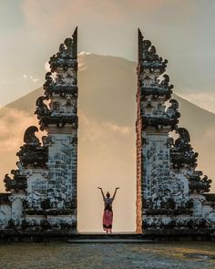 """""""Gateway to heaven"""" The Gates of Heaven are part of the Pura Penataran Agung Lempuyang temple which is one of the six most important temples in Bali. Hans Christian, Munduk Bali, Phone Number Location, Temple Bali, Bali Travel Guide, Yoga Photos, Heaven On Earth, Southeast Asia, The Locals"""