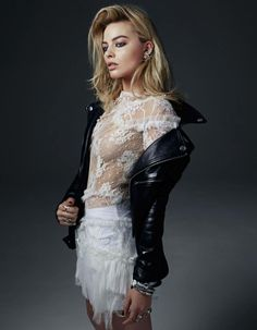 Margot Robbie rocks this perfect blend of tough and sweet in the new issue of W Magazine. Dress by Nina Ricci.