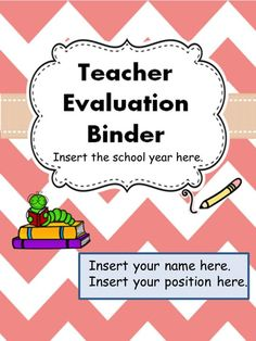 Evidence Binder Dividers Inserts Logs And More  Teacher
