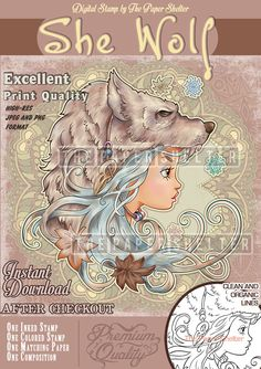 She Wolf - Digital Stamp