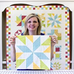 Wishes Quilt Along Block Eleven: Stair Step - Fat Quarter Shop Fat Quarter Quilt, Fat Quarter Shop, Star Quilt Blocks, Star Quilts, Quilt Block Patterns, Pattern Blocks, Quilting Tutorials, Quilting Projects, Quilting Tips