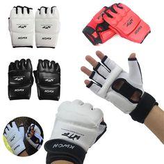 New Half Finger Fight Boxing Gloves Mitts Sanda Karate Sandbag TKD Protector For Boxeo MMA Muay Thai Kick Boxing Training