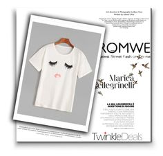 """""""Yoins White T-Shirt"""" by elisabetta-negro ❤ liked on Polyvore featuring Hansen"""