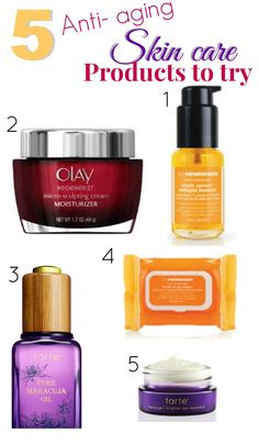 5 Anti-aging Skin Care Products to try.