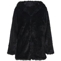 Noble Hooded Long Sleeve Black Faux Fur Women s Coat (187330 PYG) ❤ liked on Polyvore featuring outerwear, coats, faux fur hooded coat, fake fur coats, hooded coat, faux fur coat and imitation fur coats