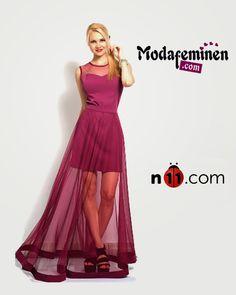 İRONİ Etegi Tül Elbise ✔Sezonun en gözde trendi!  ☛ Hemen İnceleyin:http://www.modafeminen.com #Yeni #Elbise #Mor #Moda