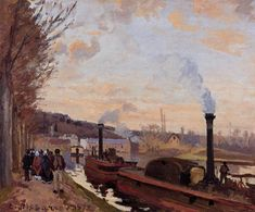 The Seine at Port Marly, 1872 Camille Pissarro