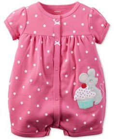 Carter's Baby Girls' Cupcake Mouse Romper