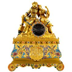 French Figural Clock, circa 1820  Offered By Tobogan Antiques  $10,361.28