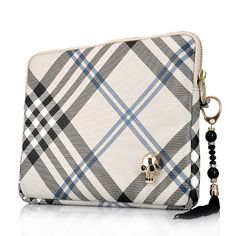 Twill Grid Pattern Leather Pouch Bag With Skull For The new iPad/iPad 2  PriceUS $15.45 Apple Ipad Accessories, New Ipad, Pouch Bag, Leather Pouch, Ipad Case, Louis Vuitton Damier, Coin Purse, Skull, Wallet