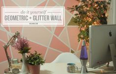 Okay! I'm so stoked on how excited y'all were about our geometric glitter wall! Seriously I've been dying to share this project since we d...