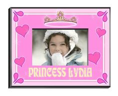"""Personalized  Children's Frames - Princess. Our personalized Children's Frames are perfect for your favorite picture. They make great room decorations and keepsakes. Frames measure 8"""" x 10"""" and hold a 4"""" x 6"""" photo. See individual frame for personalization.This item takes 3-4 business days to process before it ships === Christmas Shipping Cut Off (U.S. Only) === U.S. Std/Ground: Dec. 8th (11:59pm PST) === U.S. 2-Day Express: Dec. 13th (11:59pm PST)"""