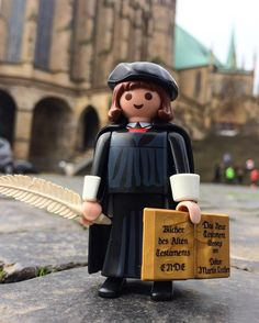 Luther was influenced by Augustine. We know Luther read a lot of Augustine, but that does not necessarily mean that his theology was influenced by him 루터가 사제 서품을 받은 에르푸르트 대성당 앞에서 루터는 어거스틴의 영성 즉 수도원의 영성과 신플라톤주의의 영향으로 개혁사상을 키워나갔습니다 #protestant #reformation #rebuild #reformedchurch #마틴루터 #martinluther #luther #luther2017 #500years #playmobil #플레이모빌 #플모 #6099 #playmobil6099 #종교개혁 #종교개혁500주년 #augustine Reformation Day, Reformed Theology, Martin Luther, Activities, Fall, Instagram Posts, Military Police, Toys, Playmobil