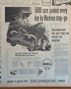 "Shellubrication will help your car outlast the Duration!"". Keep checking back to see what new advertising pages we have listed. 