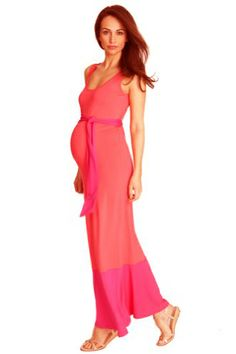db298edab9e9a Candon Color Block Sleeveless Maternity Maxi Dress by Seraphine | Maternity  Clothes Available at Due Maternity www.duematernity.com