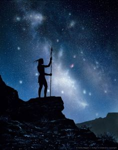 Native American and the Milky Way.