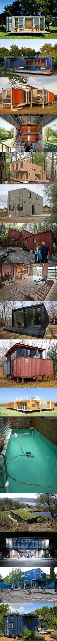 Who Else Wants Simple Step-By-Step Plans To Design And Build A Container Home From Scratch? Building A Container Home, Container Cabin, Cargo Container, Container House Design, Container Architecture, Container Buildings, Sustainable Architecture, Amazing Architecture, Shipping Container Cost