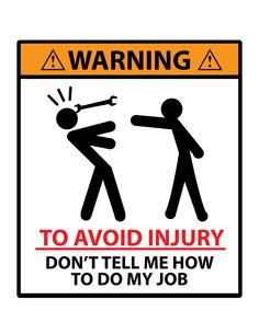 To avoid injury