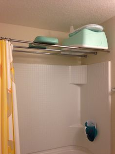 Great idea to hang baby bath tub More