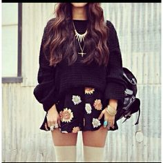 Love this look, Find the Sweater & Circle Skirt at www.lookbookstore.co