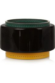 Resin and leather bangle