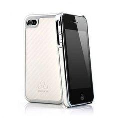 SONDERVERKAUF - Quadocta Carboneum Metallic für iPhone 4S/4 - Chrom/Weiß bei www.StyleMyPhone.de Samsung, Iphone 4s, Electronics, Slipcovers, Iphone 4, Consumer Electronics