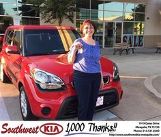 Congratulations to Maria Rodriguez on your #Kia #Soul purchase from Harold Bennett at Southwest Kia Mesquite! #NewCar