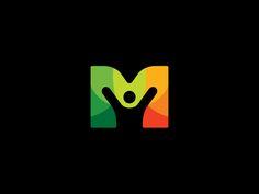 13 m people Letter M Logo Design Inspiration and Ideas M Design Logo, Logo Design Trends, Branding Design, Corporate Branding, Logo Branding, Brand Identity, Design Design, Design Ideas, Education Logo Design