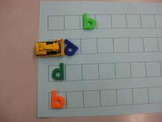 Awesome for boys! Common Core Connection: Love this idea Simple and effective way to get kiddos to differentiate b/w a b and a d. You can bulldoze a b but a d will tilt over! Kindergarten Literacy, Early Literacy, Alphabet Activities, Literacy Activities, Teaching Reading, Teaching Tools, Teaching Ideas, Preschool Ideas, Abc Centers