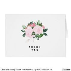 Chic Romance | Thank You Note Card