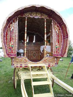 Gypsy vardo. I want one in my backyard instead of a playhouse for my kids.