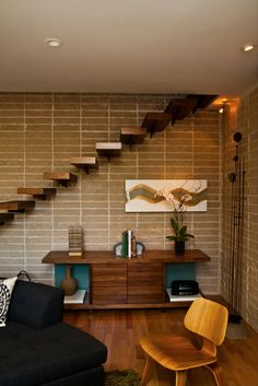 mid century modern design blog | These extra-dangerous stairs lead right to the ceiling,