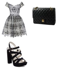 """""""Black and Grey"""" by annamariaofficial on Polyvore featuring Alice + Olivia, BCBGeneration and Chanel"""