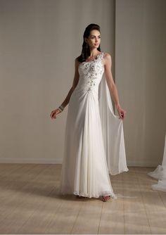 One-Shoulder-Träger Chiffon Hochzeitskleid