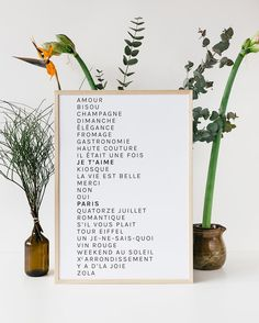 """13.5k Likes, 189 Comments - French Words (@frenchwords) on Instagram: """"It's back in stock! 26 of the most beautiful French words printed on a gorgeous paper. And it's…"""""""
