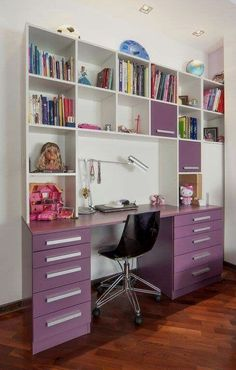 49 Most Popular Study Table Designs « knoc knock My Room, Girl Room, Girls Bedroom, In The Bedroom, Bedrooms, Study Room Decor, Bedroom Decor, Study Table Designs, Home Office Decor