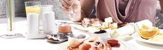 Enjoy a delicious breakfast at Hotel - Glassware Ideas Breakfast Set, Restaurant, Fine Dining, Simple, Breakfast Nook Set, Diner Restaurant, Restaurants, Dining