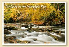 Fall colors on the Nantahala River
