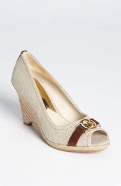 MICHAEL Michael Kors 'Meg' Open Toe Espadrille available at Nordstrom  $97.95    My amazing sister got these for me for my bday!