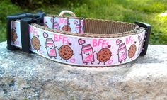 BFF Milk & Cookies Dog Collar by WillyWoofs on Etsy, $16.00