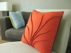 This is beautiful construction. Brings to mind the techniques I saw in Pattern Magic. Color just a bit fabulous as well! modern decorative pillows cushions wallter canada - jack + jade home I modern canadian living Bed Cover Design, Cushion Cover Designs, Pillow Design, Cushion Covers, Modern Cushions, Scatter Cushions, Decorative Cushions, Cute Pillows, Diy Pillows