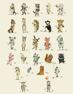 ABC, with tasmanian friend Art Print