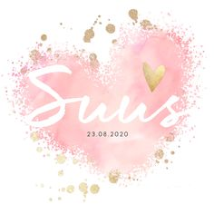 Birth announcement of the girl with fashionable pink and gold hearts, . Congratulations Baby Boy, Rare Baby Names, Mexican Babies, Baby Boys, Watercolor Logo, Fruit Of The Spirit, Mixed Babies, Tiny Treasures, Baby Kind