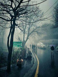 Misty Winter in Murree, Pakistan