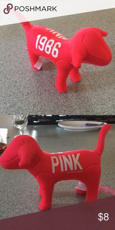VS pink dog A neon pink / coral large size VS pink dog from around 2010! PINK Victoria's Secret Other